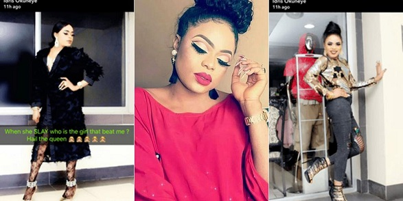 Bobrisky slams lady