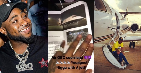 Davido acquires private jet