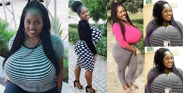 """My huge boobs brings joy & embarrassment, people keep staring everywhere"" – Nigerian lady Obianuju (Photos)"