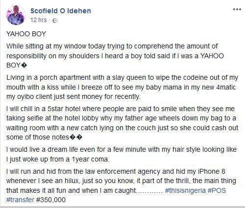 "man3 10 - Nigerian man pens down an interesting piece about ""Yahoo Boys"""