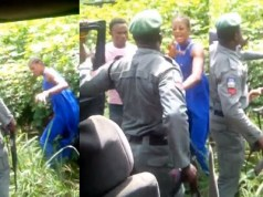 Nigerian policeman captured