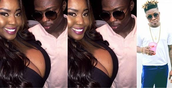 Reekado Banks caught flirtatiously looking at lady's HUGE boobs