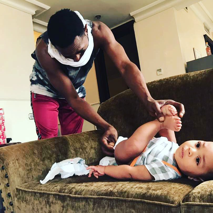 Dbanj late son photos