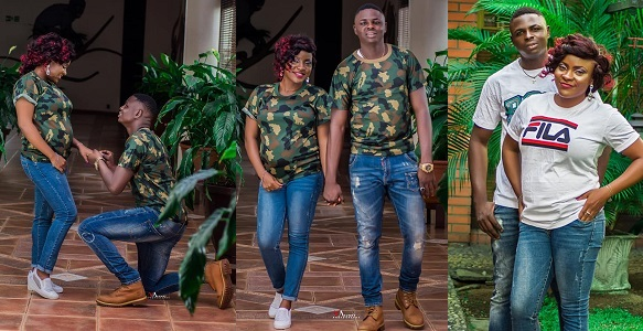 Check Out Stunning pre-wedding photos of Nigerian soldier with bride to be.