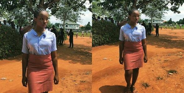 Bambam slays school uniform