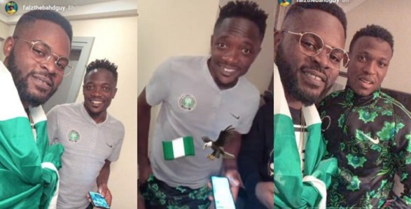 Falz visits Super Eagles