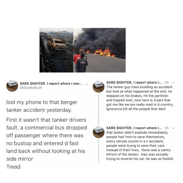 Lagos Tanker Explosion: Eyewitness shares 'What really happened', says those who died were foolish