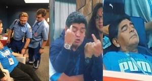 Maradona hospitalized