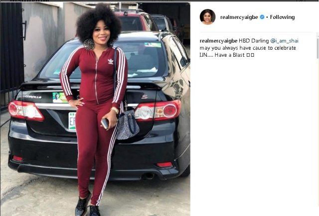 Days after being called out, Mercy Aigbe sends shoutout to fiancée of Toyin's ex husband, Johnson