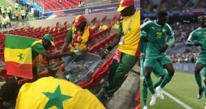 Senegal fans clean