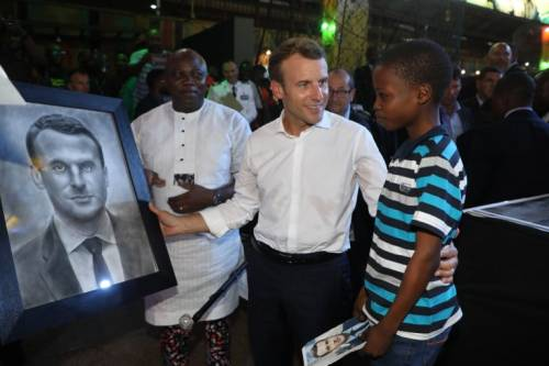 Governor Ambode Hosts young Boy Who Drew Portrait Of French President