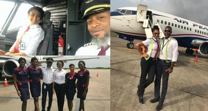 Akwa Ibom first female pilot celebrates 10th wedding anniversary with her co-pilot husband (Photos)