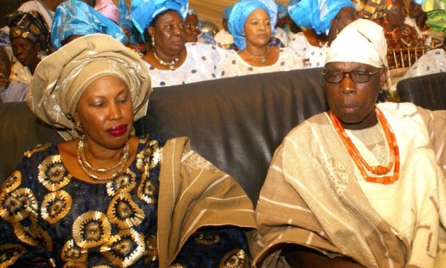 Chief Obasanjo sleeps