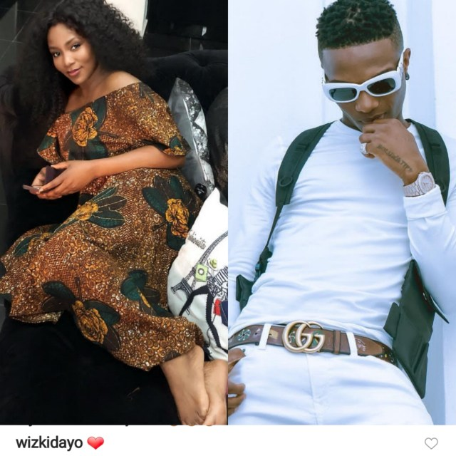 Fans drag Wizkid over his comment on Genevieve Nnaji's photo