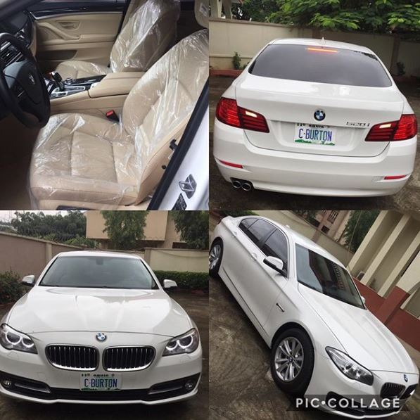 Nigeria Lady gets brand new customized Car gift from her British man (Photos)
