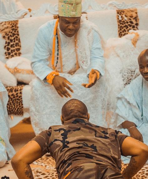 Davido visits Ooni of Ife