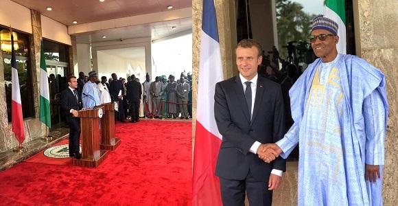 French President Emmanuel Macron visits President Buhari