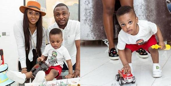 lilian esoro and ubi franklin reunite for sons birthday
