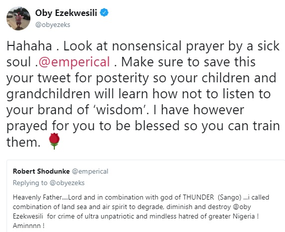 Oby Ezekwesili replies