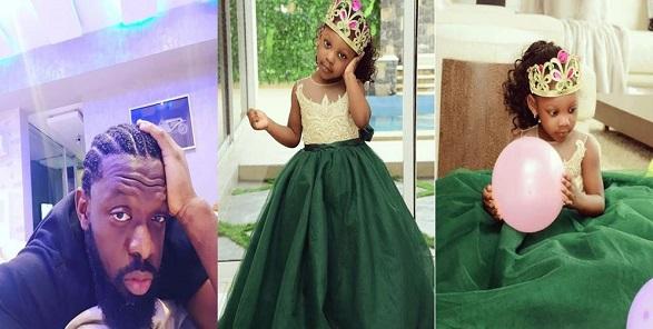 Timaya celebrates his 2nd daughter Grace on her birthday (Photos)