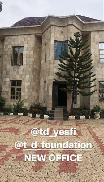 Tonto Dikeh shares a sneak peak of her office under construction (Photo)