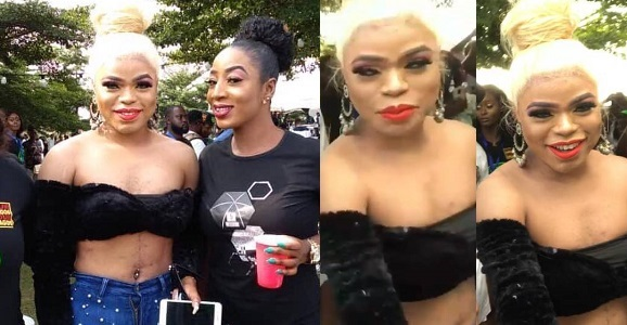 Bobrisky steps out in cropped top looking like a bag of money for an event in Lagos (Photos)
