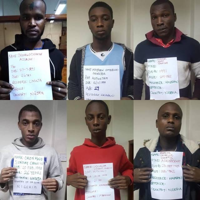 19 Nigerians arrested