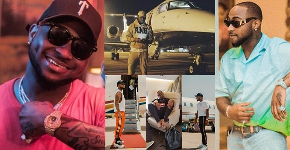 Davido's private jet finally gets delivered to him (photo)
