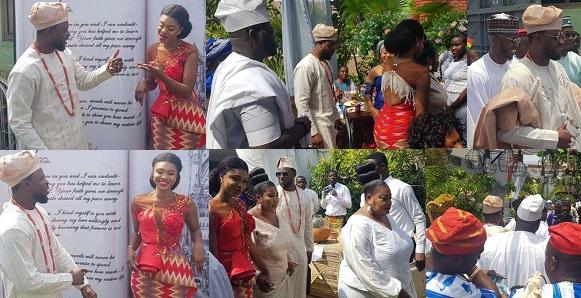 Image result for Ghanaian singer, Becca weds her Nigerian fiancé, Tobi