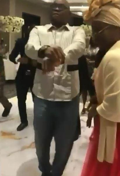 Governor Fayose Spotted Dancing 'Shaku-Shaku' At His Daughter's Wedding (Photos)