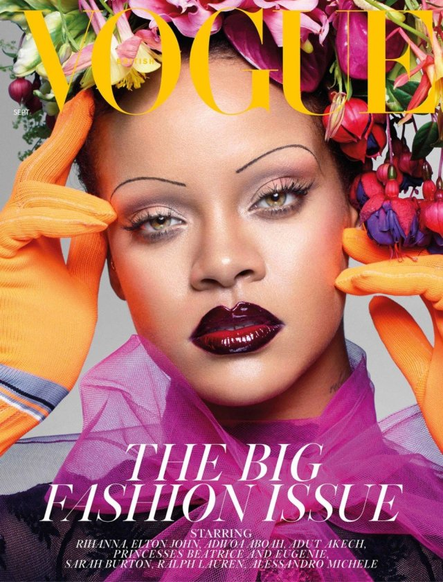 US Singer Rihanna becomes first black woman to cover British Vogue magazine (Photos)