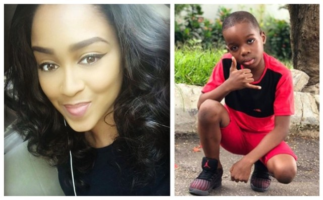 Image result for Sweet! D'banj's wife sends Wizkid's son an apology cake. (Photo)