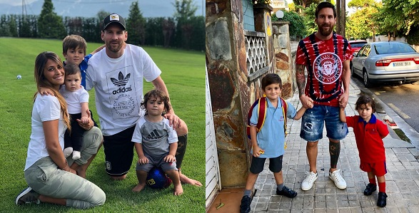 Image result for Lionel Messi, wife and children look lovely in adorable family photo