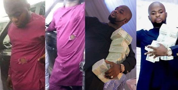 """Image result for But then, there are trending photos of the pastor flaunting some wads of naira, just before he was shot at.. See the photos below:  bulletproof Pastor  bulletproof Pastor  bulletproof Pastor  Meanwhile, The Anambra State Police Command on Friday denied reported shooting incident of any kind in Anambra State targeted at a pastor or any church as reported in some national dailies.  Deputy Commissioner of Police Chris Owolabi, who addressed the press on behalf of the Commissioner, Garba Umar, at the Command headquarters in Awka while debunking such report described such as the antics of some mischievous elements that are """"bent on portraying the state in bad light in order to achieve their selfish goals.  Clarifying on the actual report of what happened, the police boss said Pastor David Elijah of Grace and Power Ministries, Awka claimed that he was attacked by unknown gunmen along Enugu-Udi road in Enugu State and his vehicle was riddled with bullets but he escaped unhurt.  """"However, instead of reporting the incident at the nearest police station where the incident took place, the pastor drove his car to his church in Awka and attracted the attention of his congregation who were waiting for him at the church premises for an event.  """"Following the incident, the Commissioner of Police directed the DPO 'B' Division to immediately proceed to the church and ascertain the true situation. The DPO visited the Pastor at his church and even took photographs with him to clear the ambiguity"""""""