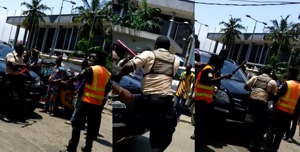 Image result for Security officer raises alarm as his manhood disappears after allegedly collecting money from a politician in Lagos (VIDEO)