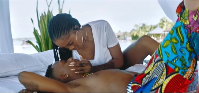 10 hot photos of Wizkid and Tiwa Savage from 'Fever Video'