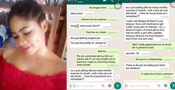 Image result for Nigerian Lady reveals her ex-boyfriend still sends her monthly allowance