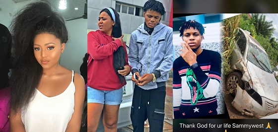 Image result for Regina Daniels and her brother escape accident