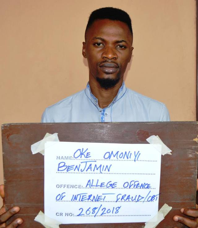 EFCC arrests yahoo boy
