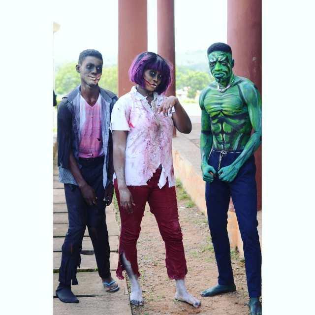 FUNAAB students celebrate Halloween