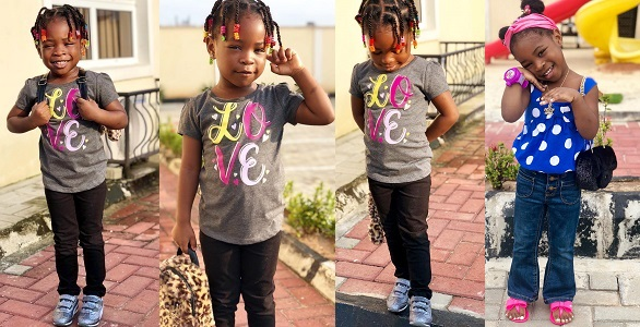 Image result for Beautiful new photos of Davido's daughter Imade Adeleke.