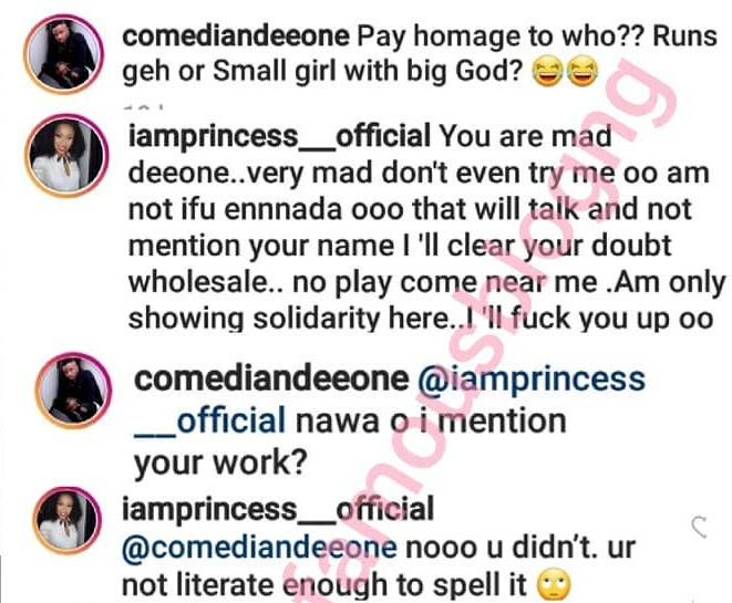 BBN's Princess slams comedian