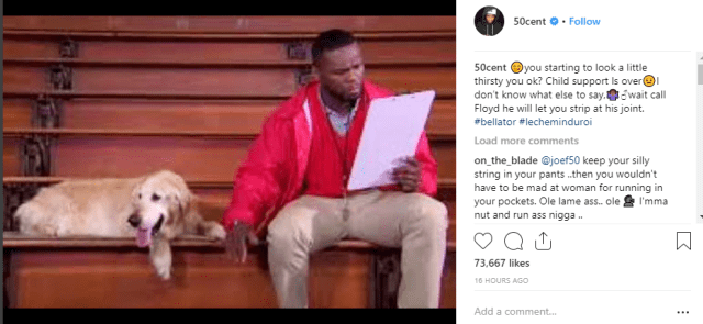 50 Cent Shades His First Baby Mama Their Son Marquise Fires Back