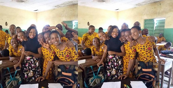 Image result for Photos of pupils' school uniform in Anambra State goes viral for obvious reason