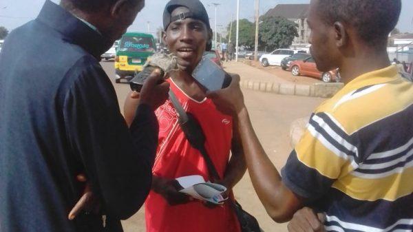 Nigerian Man treks