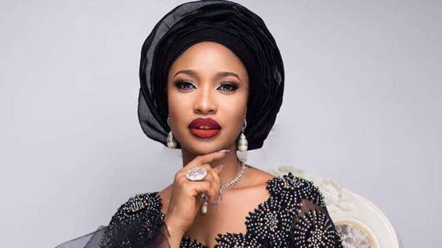 Actress, Tonto Dikeh says she's never kissing her man again and here's why