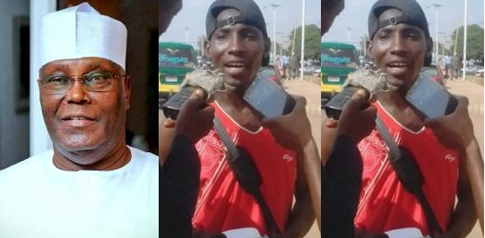 Image result for Nigerian Man treks from Zaria to Abuja for Atiku, say he believes in him