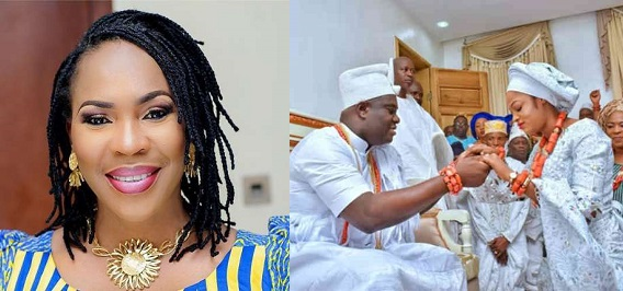 Image result for Faithia Williams reacts to Ooni of Ife remarrying for the third time