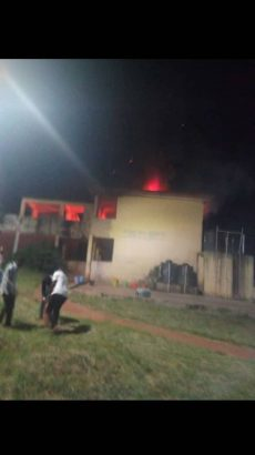 Fire guts female hostel