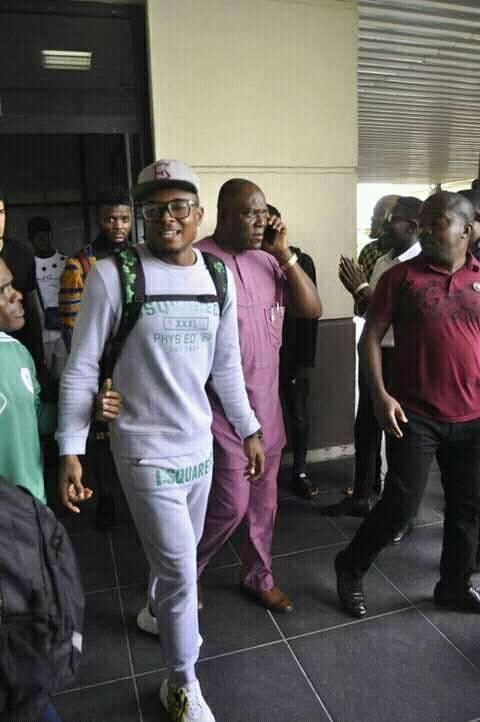 Super Eagles Arrive Uyo